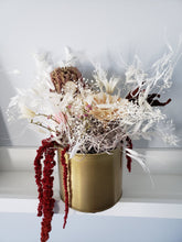 Load image into Gallery viewer, Dried Flowers with gold pot