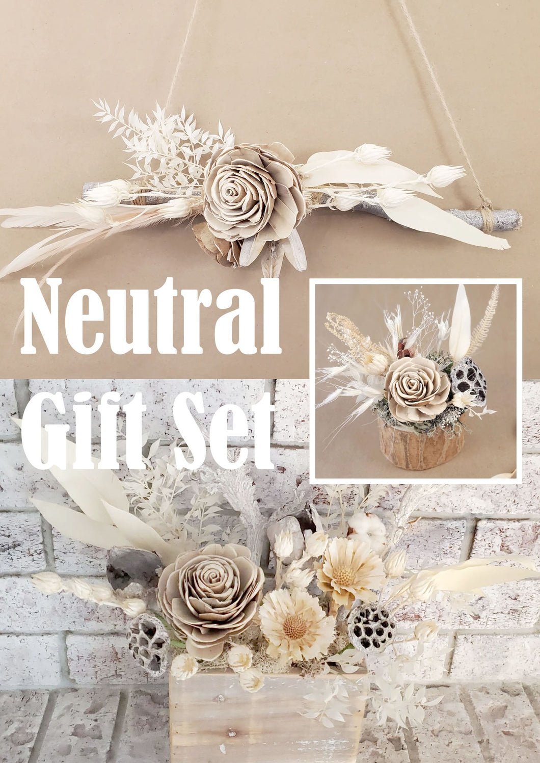 Neutral  Home Décor Gift Set