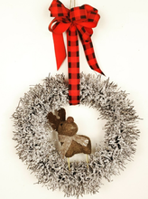 Load image into Gallery viewer, Rudolph Frosty Wreath