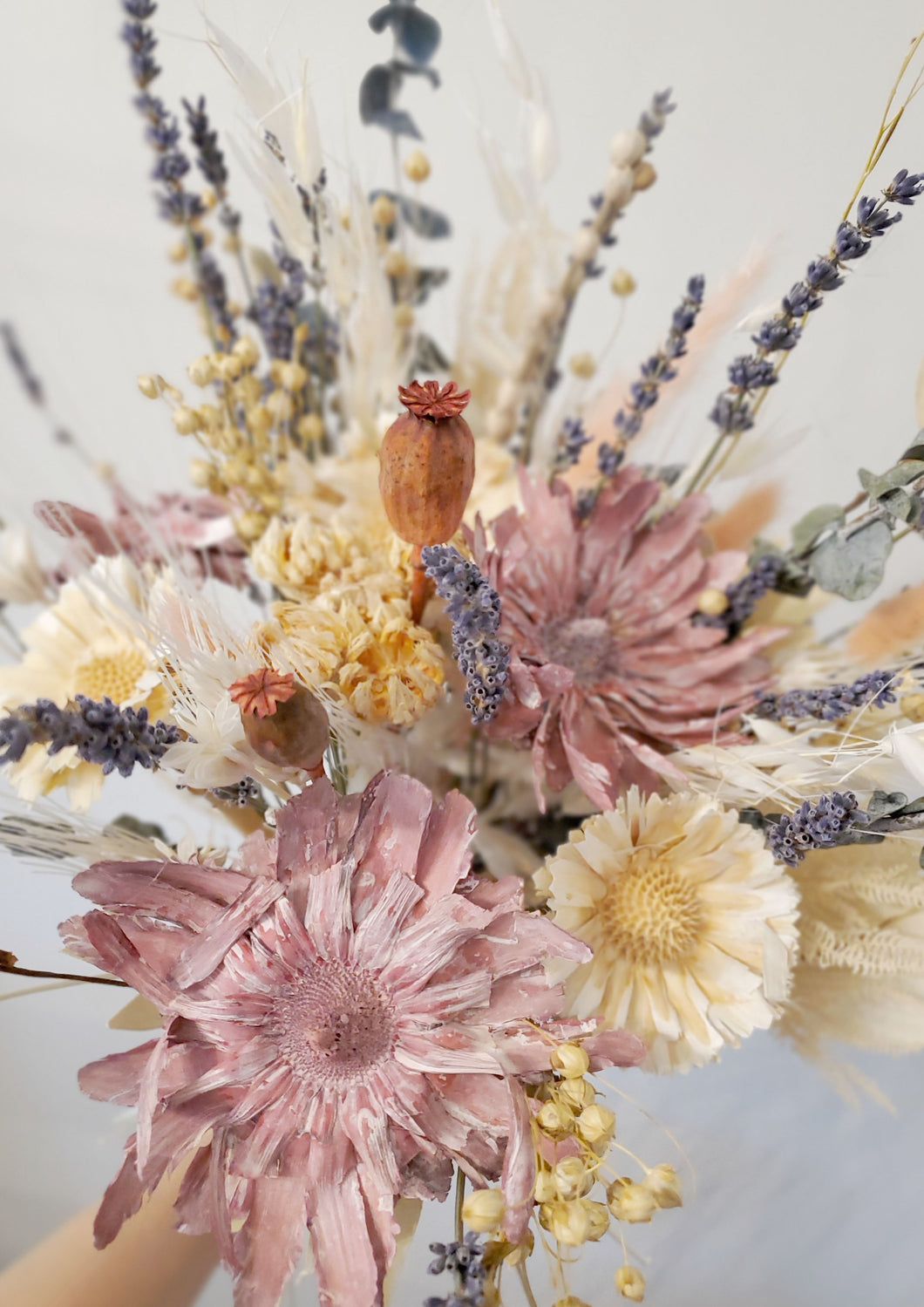 Mixed dried flower bouquet