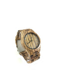 Handmade zebrawood wooden watch for men