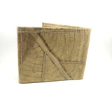 Handmade leaf leather wallet and cards holder for men - Natutal