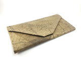 Handmade leaf leather wallet and cards holder for women - Natural