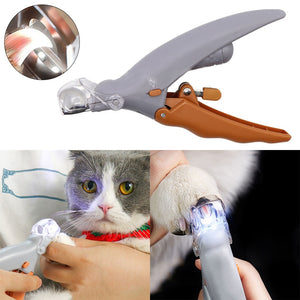 Pet Nail Clipper with LED Light
