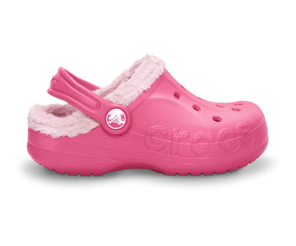 Load image into Gallery viewer, Baya Fleece Clog Kids Hot Pink/Petal Pink-6E5