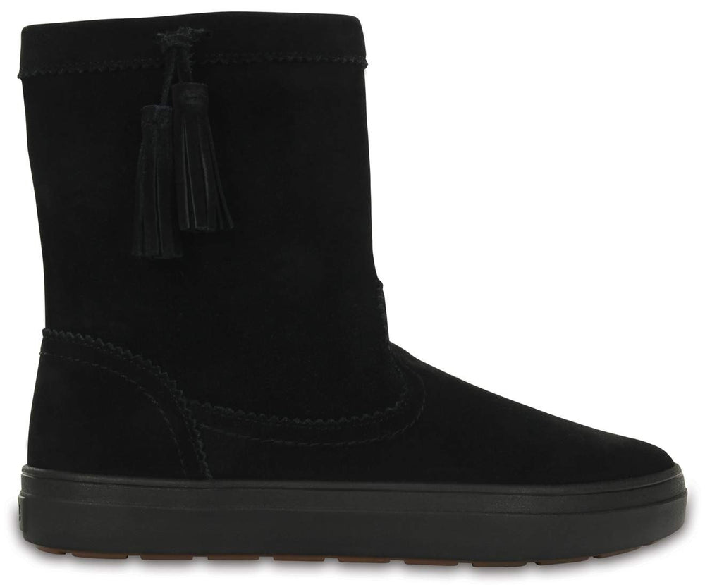 Load image into Gallery viewer, LodgePoint Suede Pullon Boot W Black