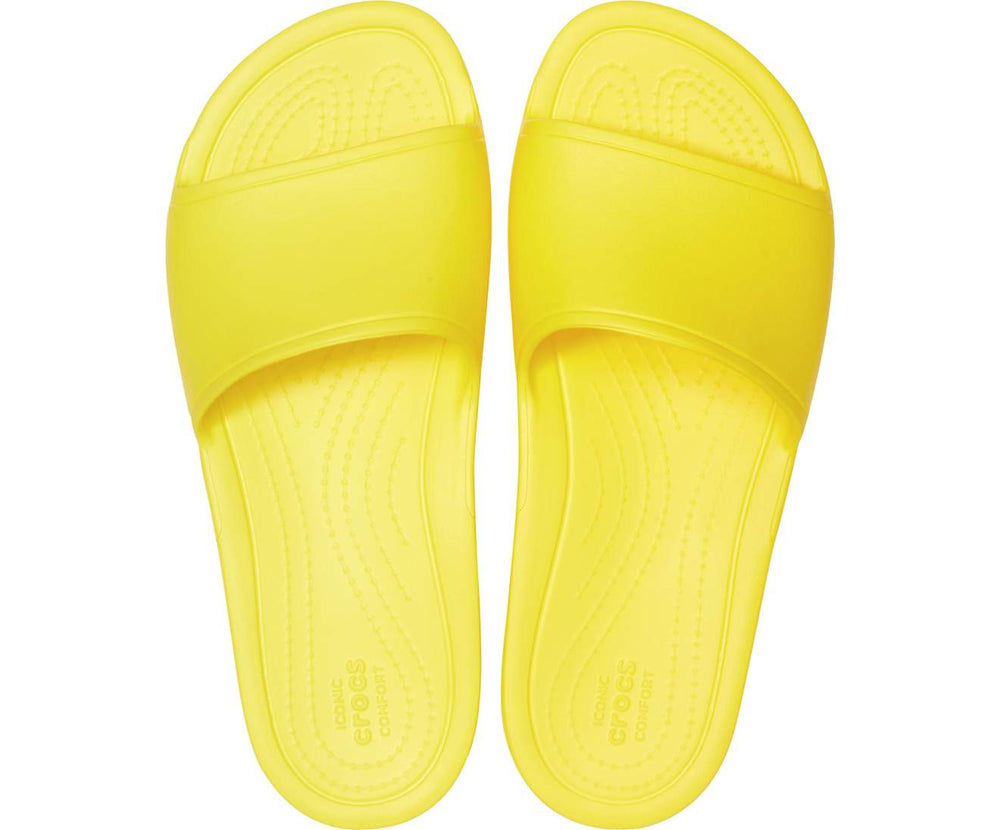 Load image into Gallery viewer, Crocs Sloane Slide Women Lemon-7C1