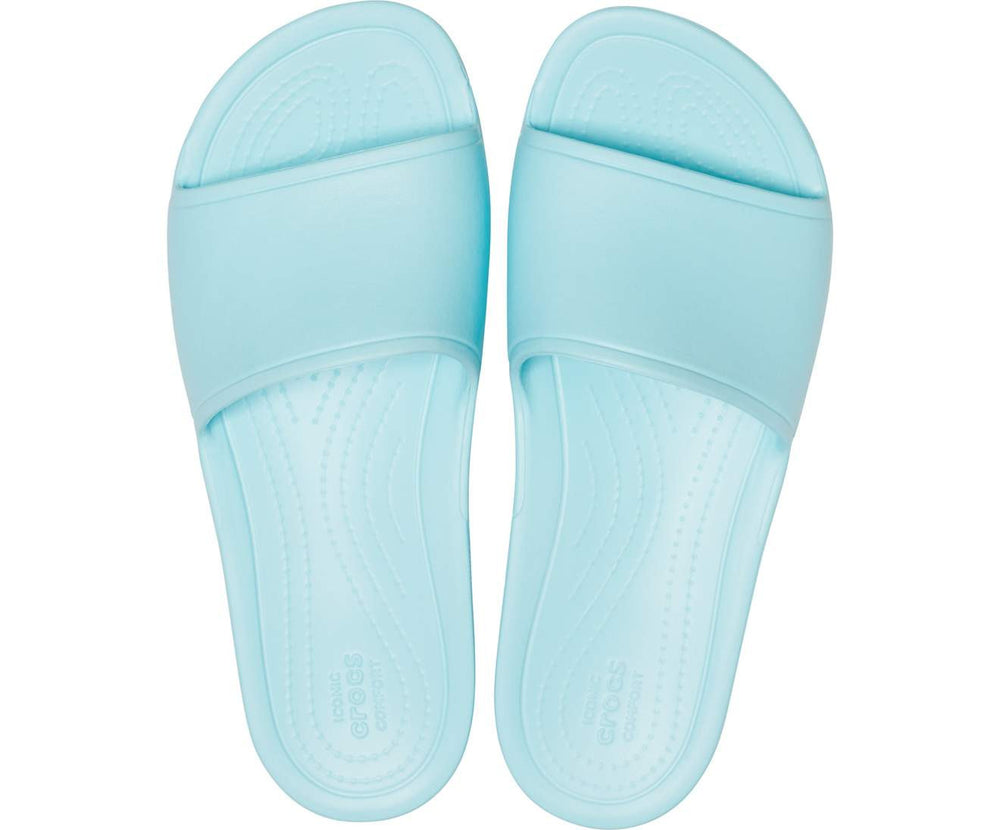 Load image into Gallery viewer, Crocs Sloane Slide Women Ice Blue-4O9