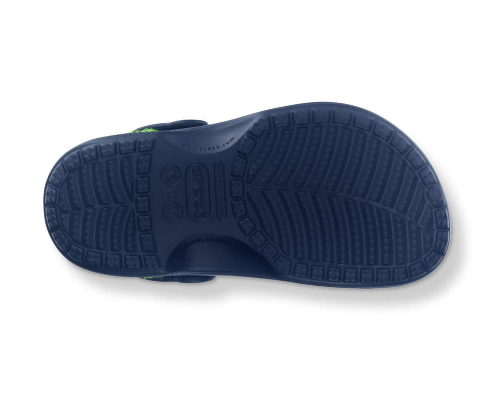 Baya Fleece Clog Kids Navy/Lime Green