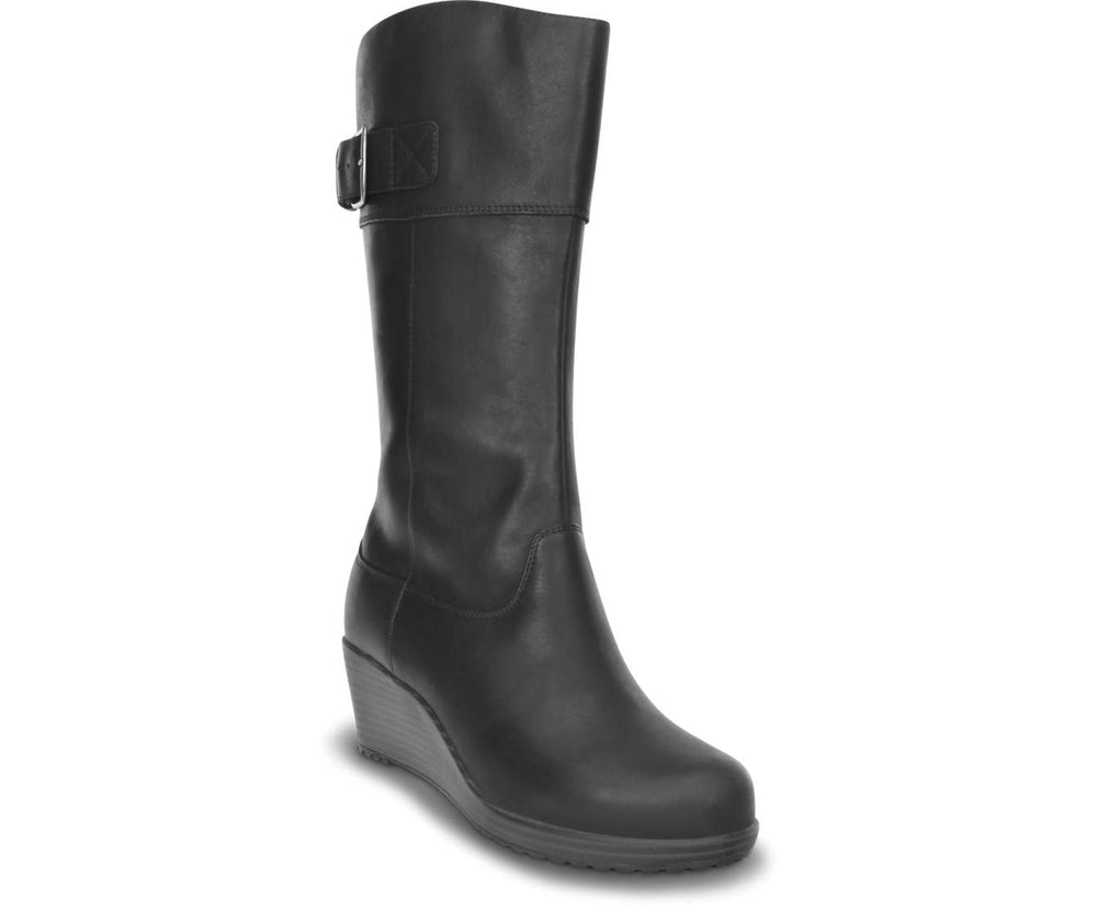 Load image into Gallery viewer, A-leigh Leather Boot W Black/Black