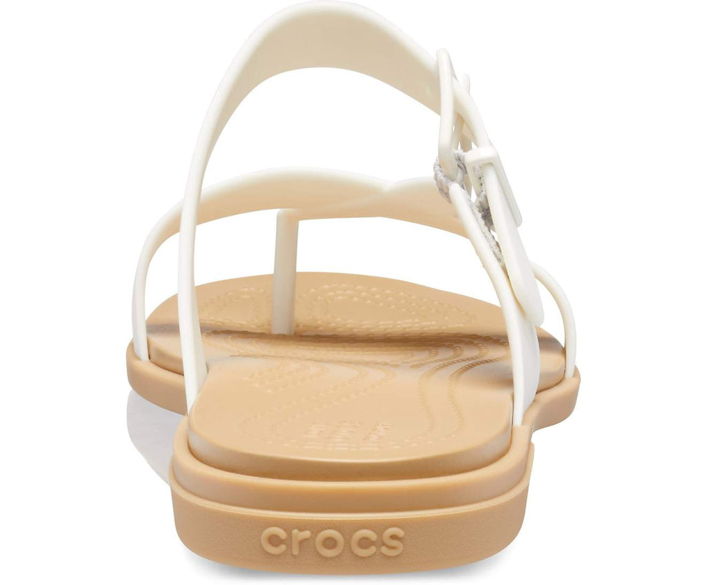 Crocs Tulum Toe Post Sandal Women Oyster/Tan