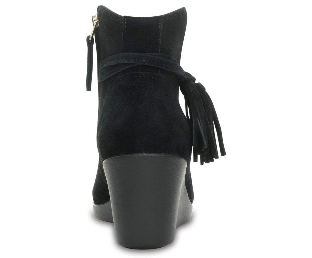 Crocs Leigh Suede Mix Bootie W Black-001