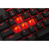 Corsair K60 PRO Mechanical Gaming Keyboard — Red LED — CHERRY VIOLA — Black