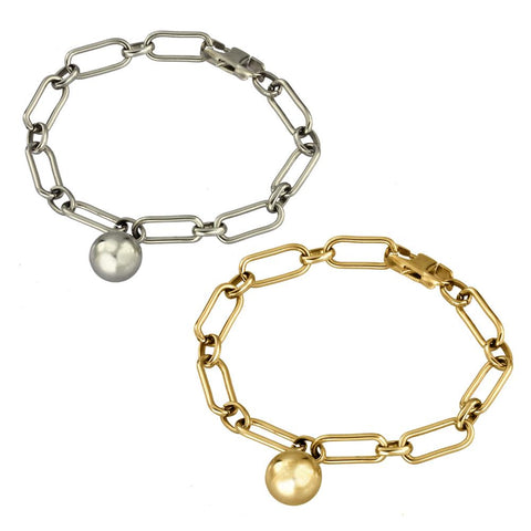 BSS804 STAINLESS STEEL BRACELET WITH BALL