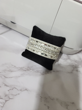 Load image into Gallery viewer, Black Suede and Silver Snap Bracelet