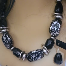 Load image into Gallery viewer, Black Onyx Necklace Set