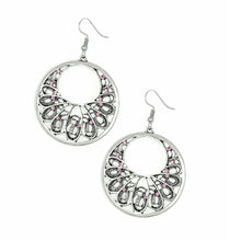 Load image into Gallery viewer, Silver Earrings with a hint of Pink