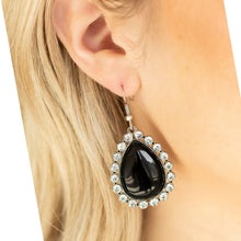 Load image into Gallery viewer, Black and Rhinestone Earrings
