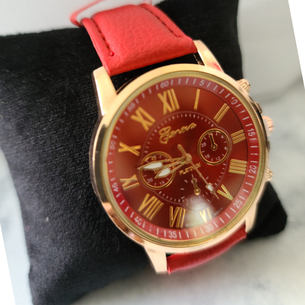Ladies Fashion Watch-Red