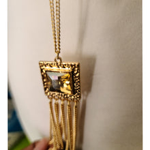 Load image into Gallery viewer, Long Gold Necklace Set