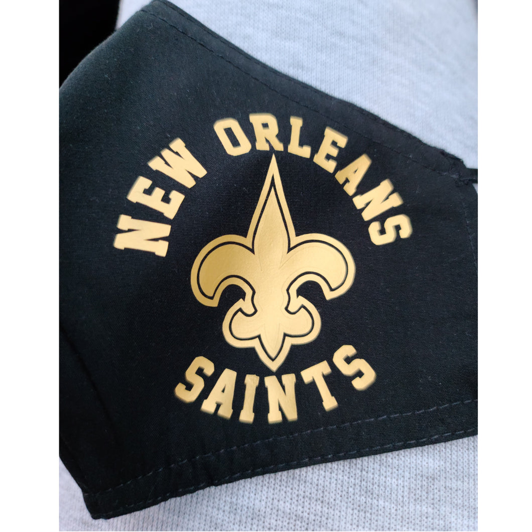 Custom Saints Face Mask-Version 3