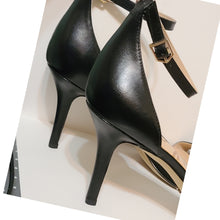 Load image into Gallery viewer, Sam Edelman Open Toe Heels Size 9.5
