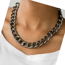Load image into Gallery viewer, Heavyweight Blacksilver Necklace and Earring Set