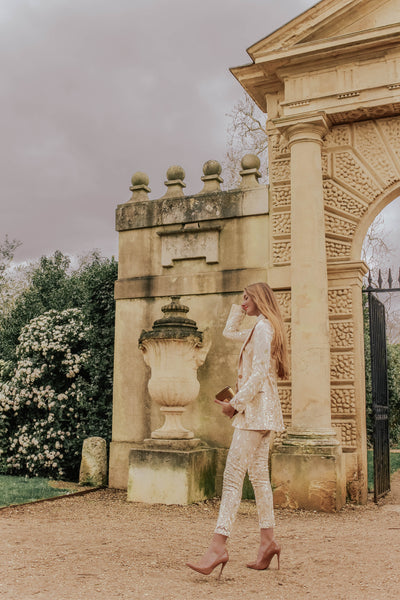 Fashion Blogger Gabrielle in J.KWAN Forest Fairy Power Suit