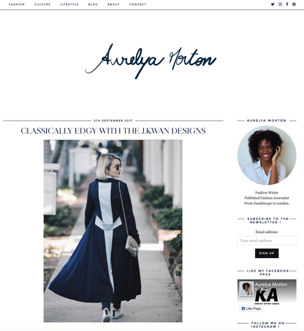Blogger feature J.KWAN, J.KWAN London Fashion Week