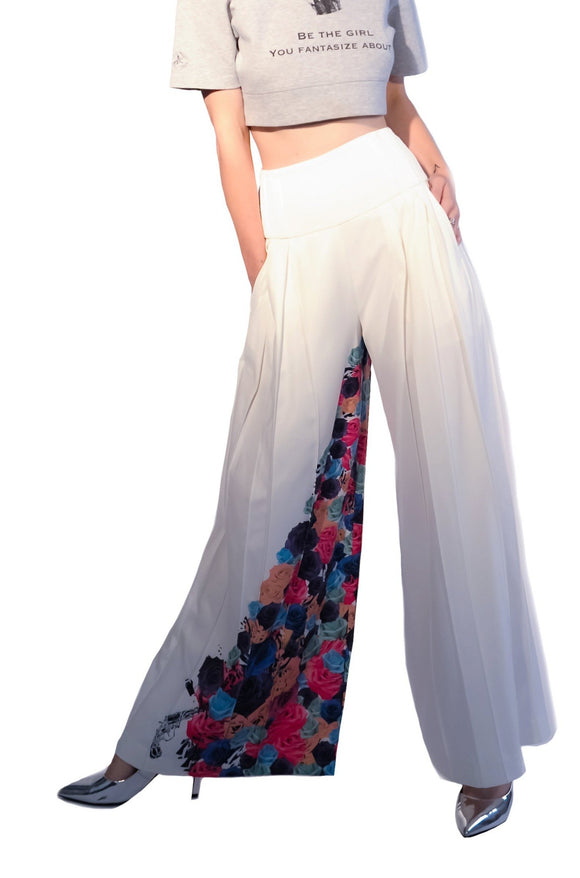 High Roller Trousers- White