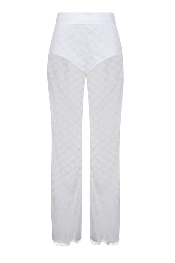 Vegas Vibes Royale Trousers, Lace Pants