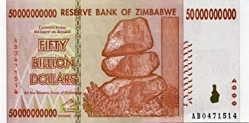 Zimbabwe 50 Billion Dollar Note