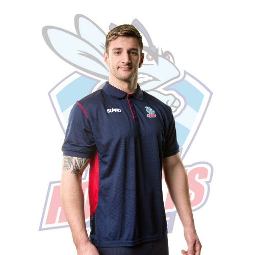 Rochdale Hornets Training Pro Team Polo - Navy/Red