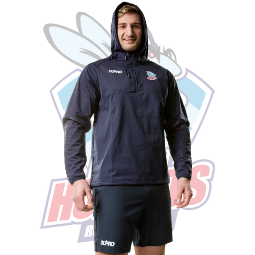 Rochdale Hornets Supro Training Hooded Jacket- Navy/Red