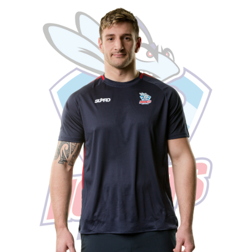 Rochdale Hornets Supro Training Pro T-Shirt- Navy/Red