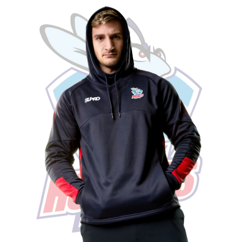 Rochdale Hornets Supro Training Team Tech Hoodie- Navy/Red