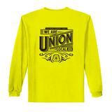 We Are Union - Safety Yellow/Green Long Sleeve T-Shirt