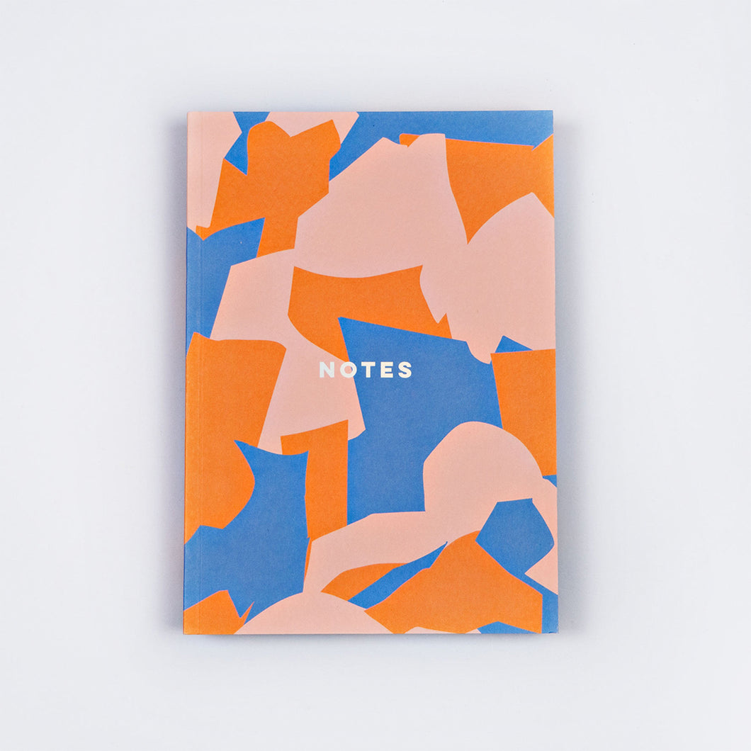 Overlay Shapes Lay Flat Notebook