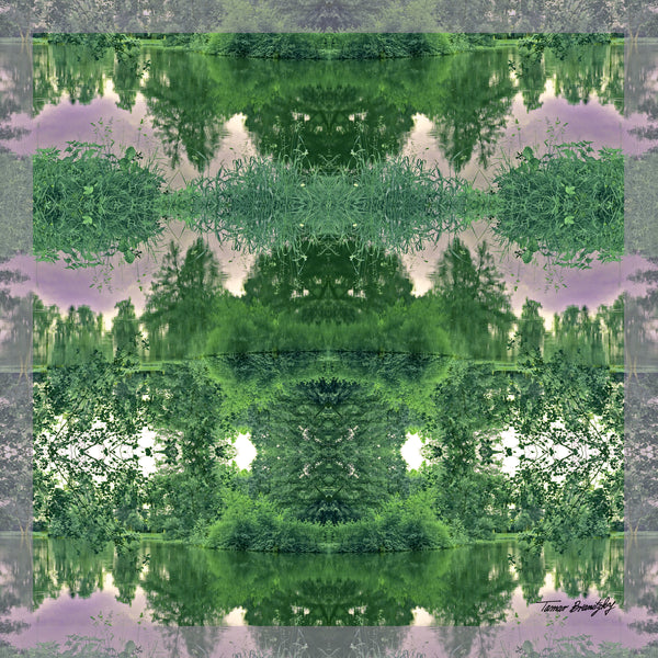 Green forest print