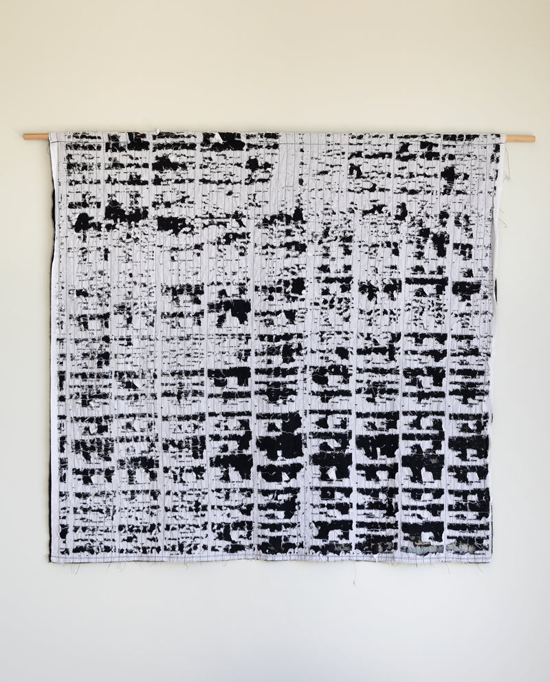 Black and white wall hanging