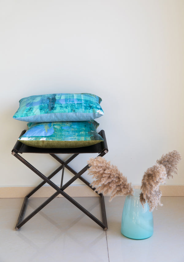 Forest teal painting- 2 pillows set