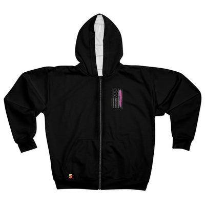 Breast Cancer Warrior Unisex Zip Hoodie - Sappy ~Inspo~ Tees