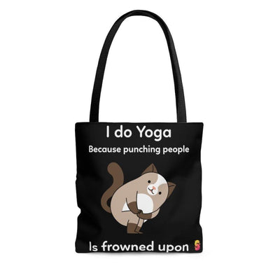 I Do Yoga Because Punching People Is Frowned Upon Tote Bag - Sappy ~Inspo~ Tees