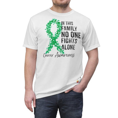 In This Family No One Fights Alone Gallbladder Cancer Awareness Unisex Tee - Sappy ~Inspo~ Tees