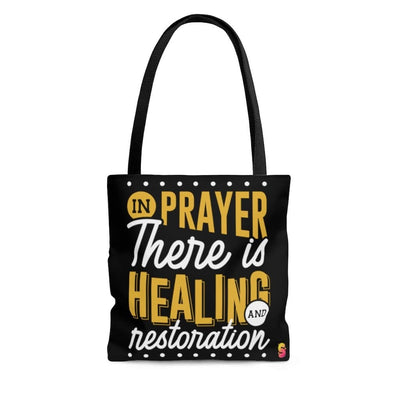 In Prayer, There is Healing and Restoration Tote Bag - Sappy ~Inspo~ Tees