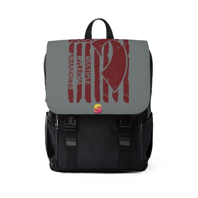 Multiple Myeloma Awareness Unisex Casual Shoulder Backpack - Sappy ~Inspo~ Tees