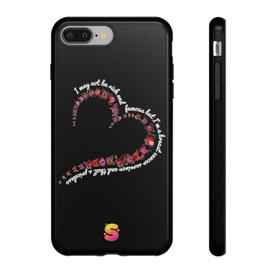 I May Not Be Rich And Famous But I'm A Breast Cancer Survivor And That Is Priceless Tough Phone Cases - Sappy ~Inspo~ Tees