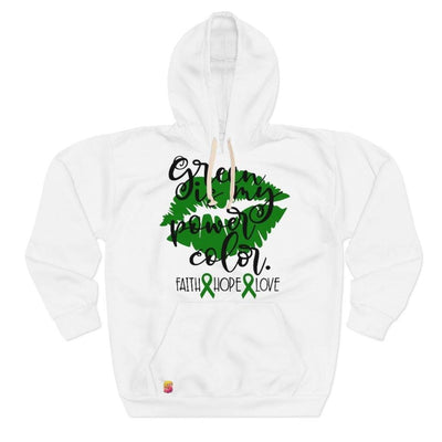 Green Is My Power Color Gallbladder Bile Duct Cancer Awareness Unisex Pullover Hoodie - Sappy ~Inspo~ Tees