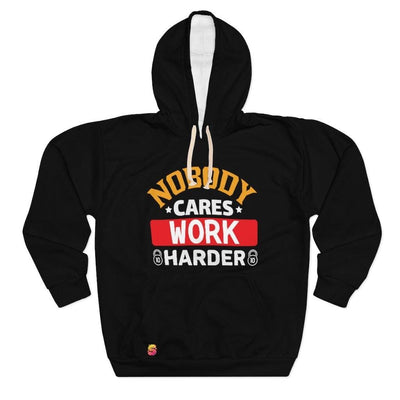 Nobody Cares Work Harder Unisex Pullover Hoodie - Sappy ~Inspo~ Tees