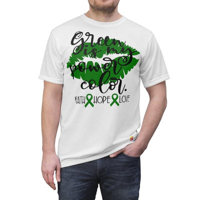 Green Is My Power Color Gallbladder Bile Duct Cancer Awareness Unisex Tee - Sappy ~Inspo~ Tees